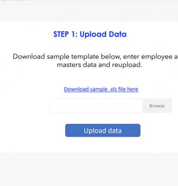 Upload employee data